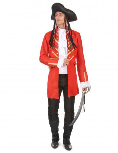 Disfraz de pirata rojo hombre