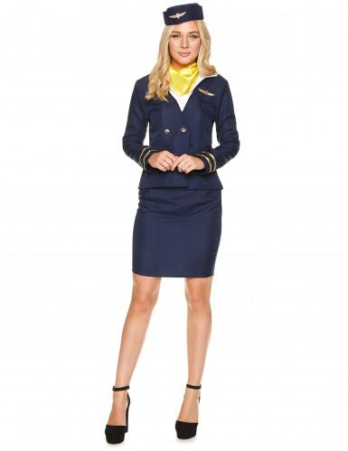 Disfraz azafata azul mujer-1