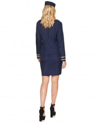 Disfraz azafata azul mujer-2
