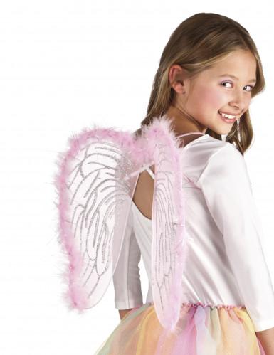 Alas ángel rosas 40x33 cm niño