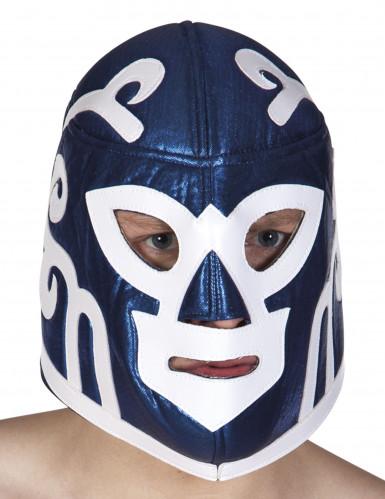 Máscara luchador azul adulto