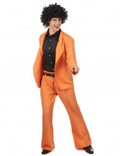Disfraz disco naranja adulto