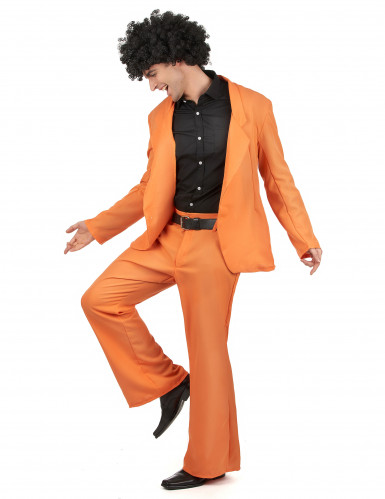 Disfraz disco naranja adulto-1