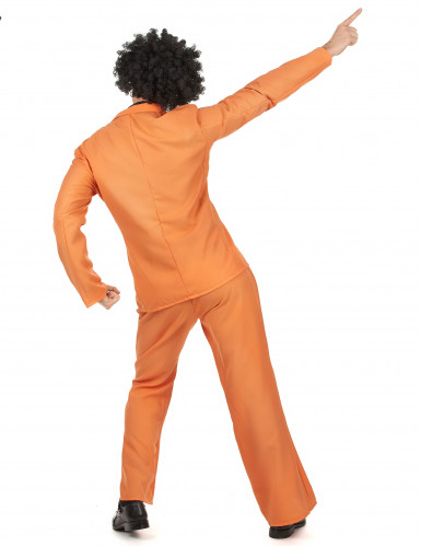 Disfraz disco naranja adulto-2