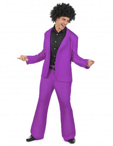 Disfraz violeta disco adulto