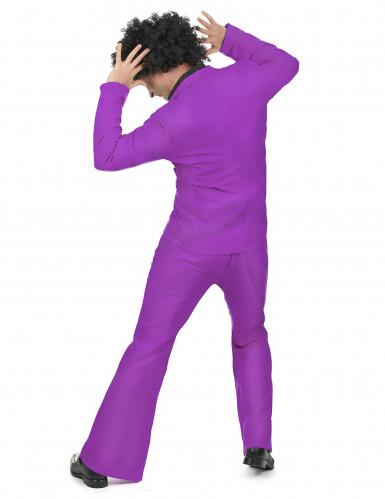 Disfraz violeta disco adulto-2