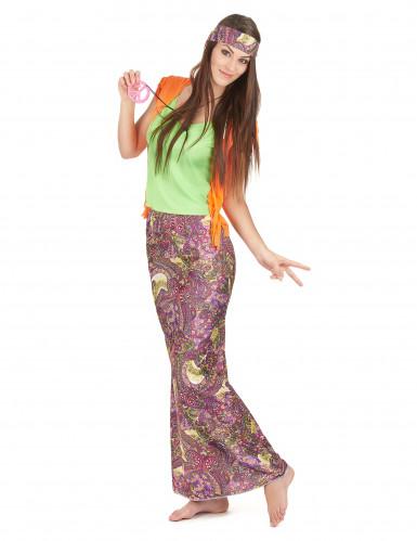 Disfraz de hippie falda larga mujer-1