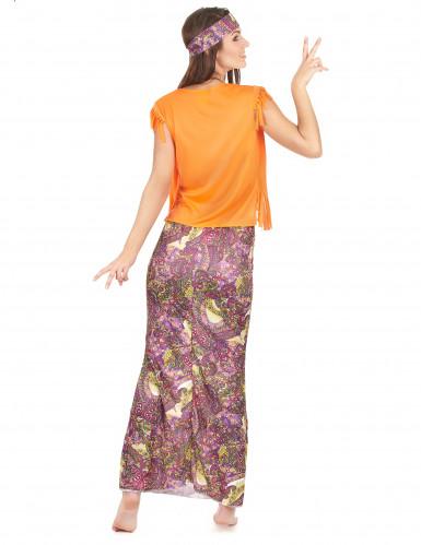 Disfraz de hippie falda larga mujer-2