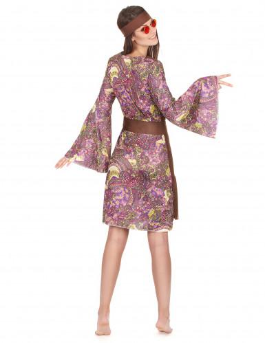 Disfraz de hippie colores psicodelic mujer-2