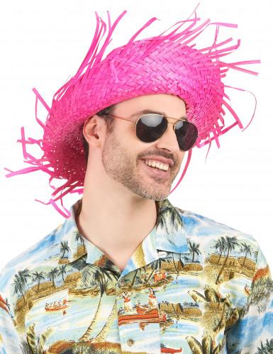 Sombrero Hawái rosa adulto-1