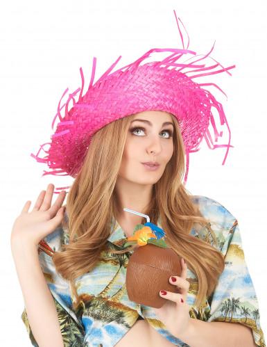 Sombrero Hawái rosa adulto-2