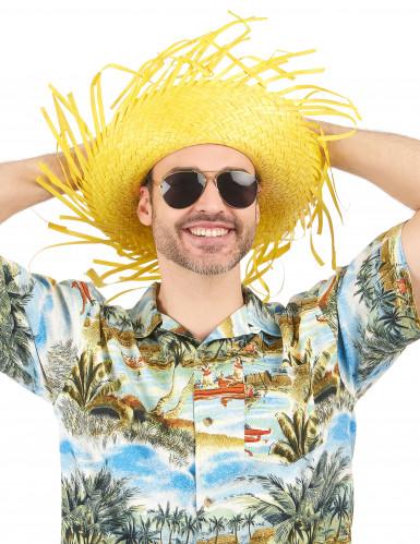 Sombrero Hawái amarillo adulto-1