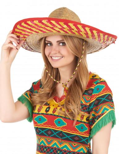 Sombrero mexicano adulto paja-2
