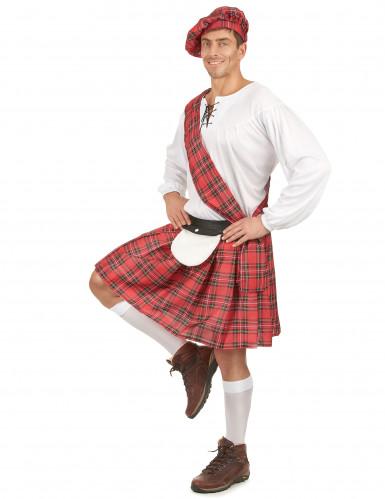 Disfraz de pareja escocesa corto adulto-1