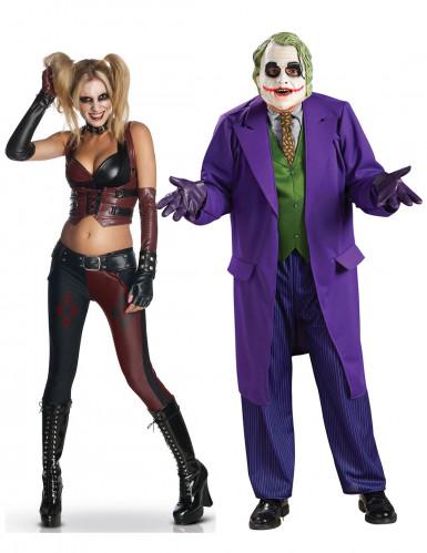 Disfraz de pareja Harley Quinn y Joker