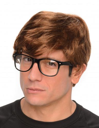 Peluca de agente secreto con gafas
