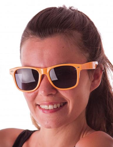 Gafas blues naranja fluorescente adulto