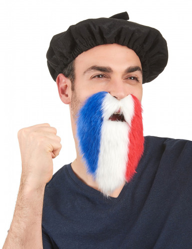 Barba hincha tricolor Francia adulto
