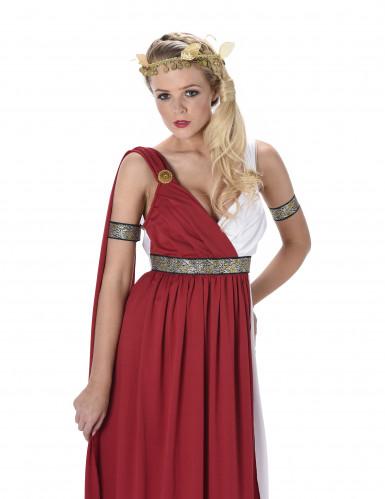 Disfraz de romana mujer blanco y rojo-1