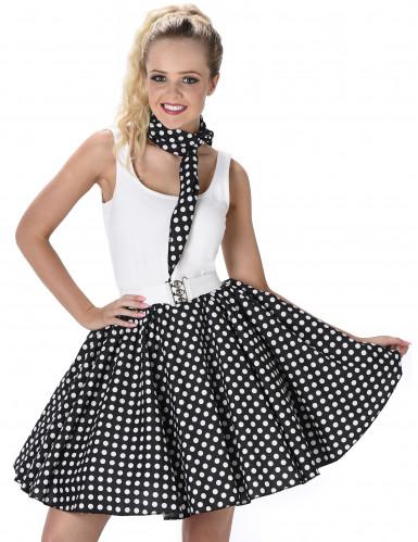 Disfraz de los años 50 negro con puntos mujer-1