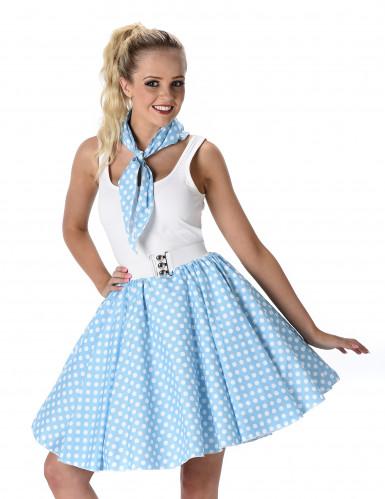 Disfraz años 50 azul claro mujer-1