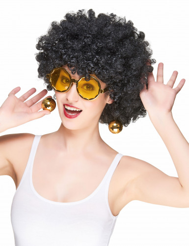Gafas doradas disco adulto-1