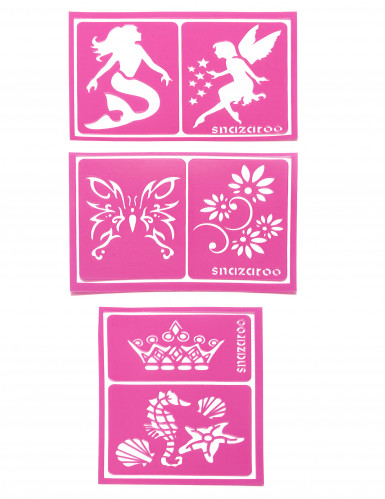 6 Plantillas maquillaje rosa Snazaroo™