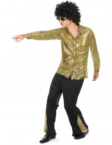 Disfraz de disco dorado hombre-1