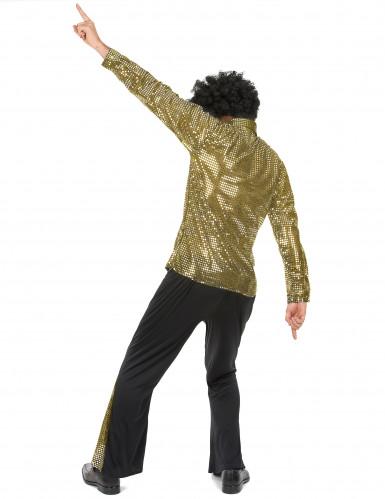 Disfraz de disco dorado hombre-2