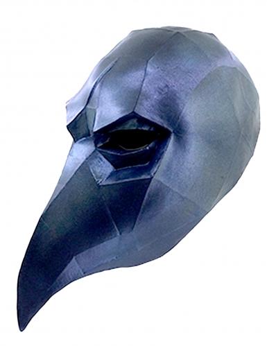 Máscara de cuervo low poly