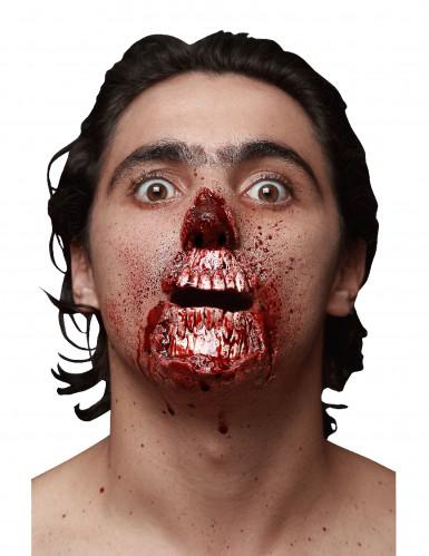Herida falsa boca desgarrada sangrienta adulto Halloween