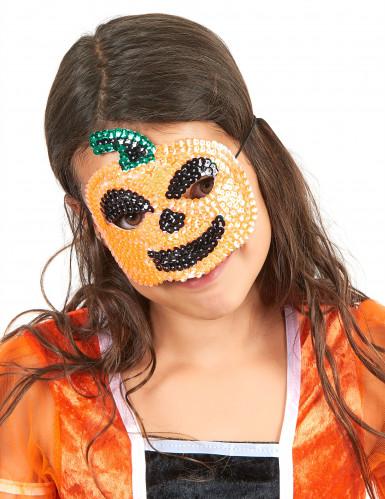 Máscara calabaza lentejuelas niño Halloween
