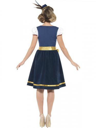 Disfraz de bávara tradicional azul mujer-1