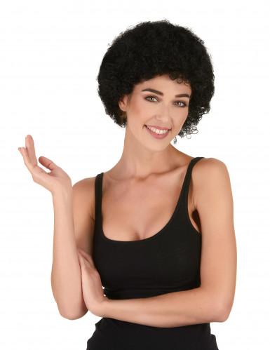 Peluca afro / payaso negra estándar adulto