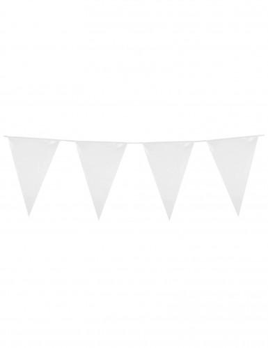 Guirnalda banderines blancos 10 m