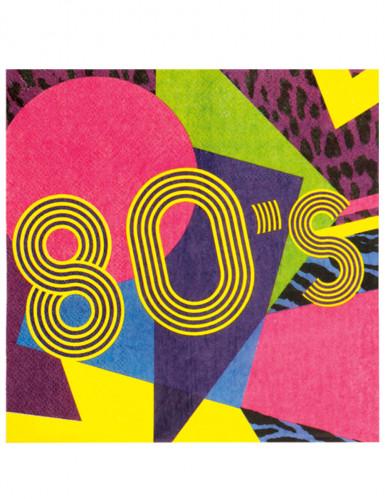 12 Servilletas papel 80's Party 33x33 cm