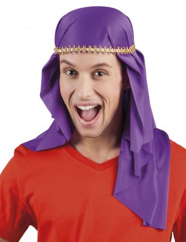 Turbante emir violeta adulto