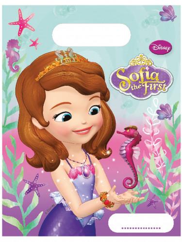 6 Bolsas de fiesta plástico Princesa Sofía™