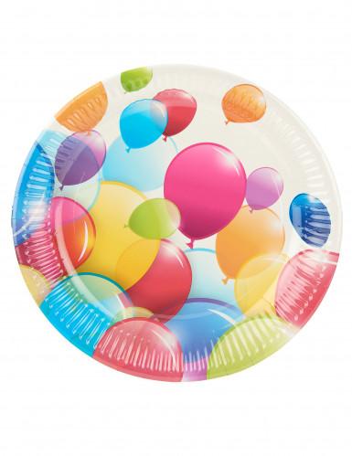 10 Platos de globos