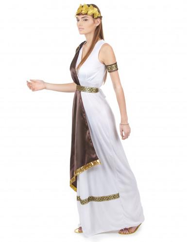 Disfraz de pareja romana marrón adulto-2