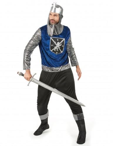 Disfraz de pareja medieval azul adulto-1