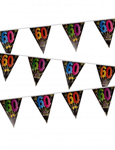 Guirnalda banderines cumpleaños fuegos artificiales 60 años 7 m