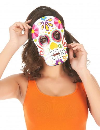 3 Máscaras de cartón Día de los muertos adulto Halloween-1