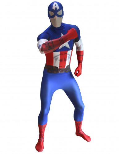 Disfraz Morphsuits™ Capitán América digital adulto