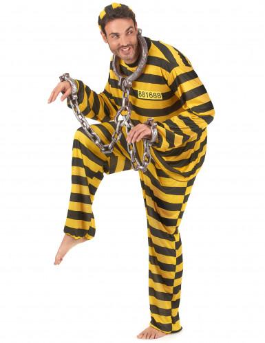 Disfraz de pareja presos amarillo-1