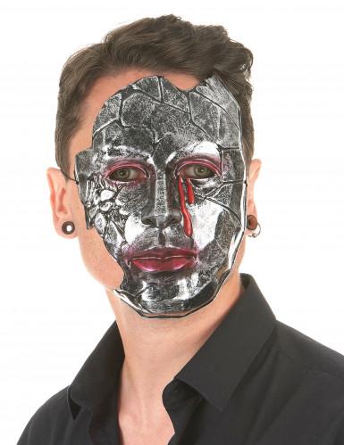 Máscara hombre metálico adulto