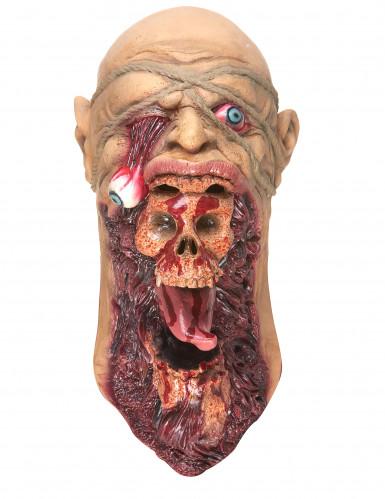 Máscara zombie devorador látex adulto-2