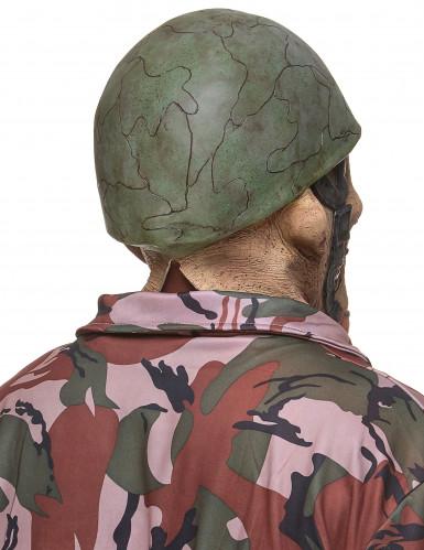 Máscara látex soldado zombie adulto-1