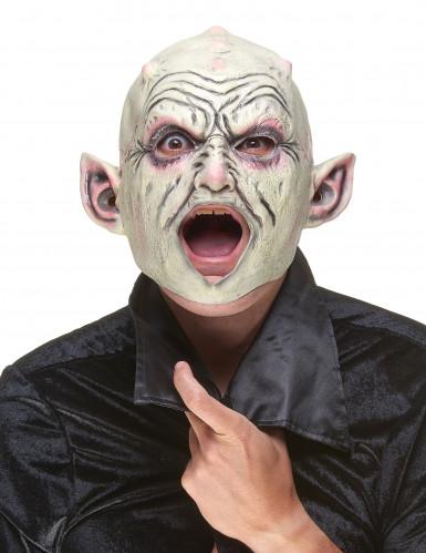 Máscara látex gnomo con granos adulto-1
