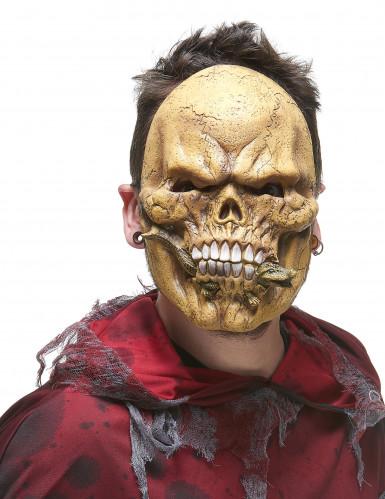 Máscara esqueleto devorador látex adulto-1